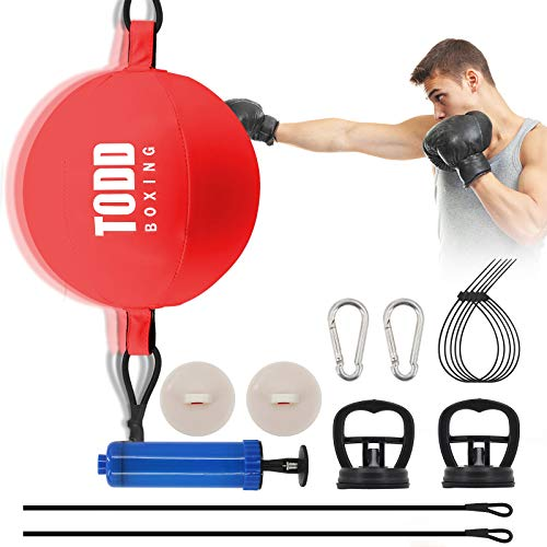 Ananko Boxing Speed Ball,Boxing Reflex Ball Double End Ball Double End Punching Ball Include 20 Cable Ties, 2 Suction…