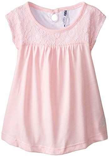 Levi's Little Girls' Knit Top with Lace, Conch Shell Pink, 6