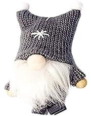 CNluca Decoração de Natal para casa de Papai Noel Boneca sem rosto Chapéu de pelúcia boneca de tricô pingente de boneca criativa presente