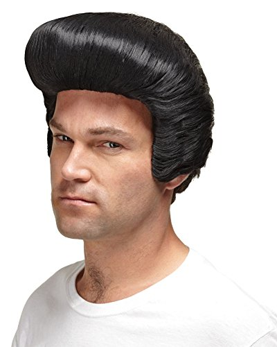 [Wig Pimp Daddy Look Black Costume Wig] (Rock And Roll Costume Ideas For Men)