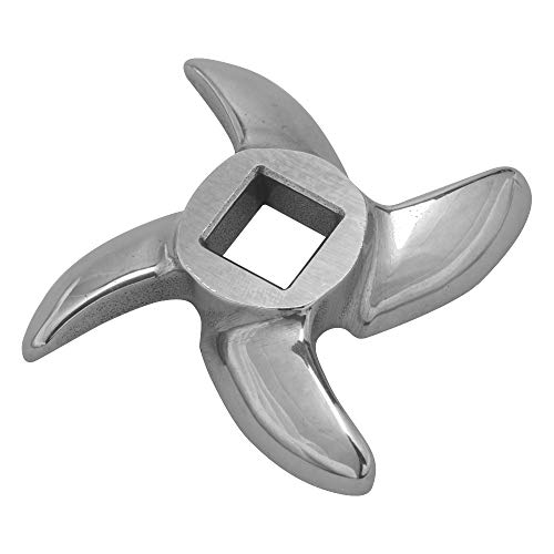 #22 Meat Grinder Blade Parts, Stainless Steel Cutting Blade for Electric Meat Grinder ()