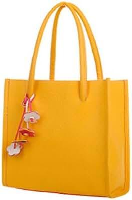 Shoulder Bags Decorations,Hemlock Women Girls Elegant Handbags Wrist Tote Bags (Yellow)