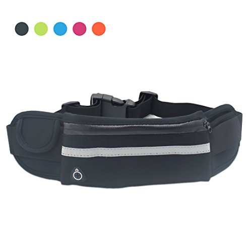 Lovidea Waist Pack Leather Fanny Pack Waterproof for Men and Women - Water Resistant Waist Pack for Sports Travel Running Hiking Fitness - Adjustable Running Pouch Fits All Kinds of Phones.