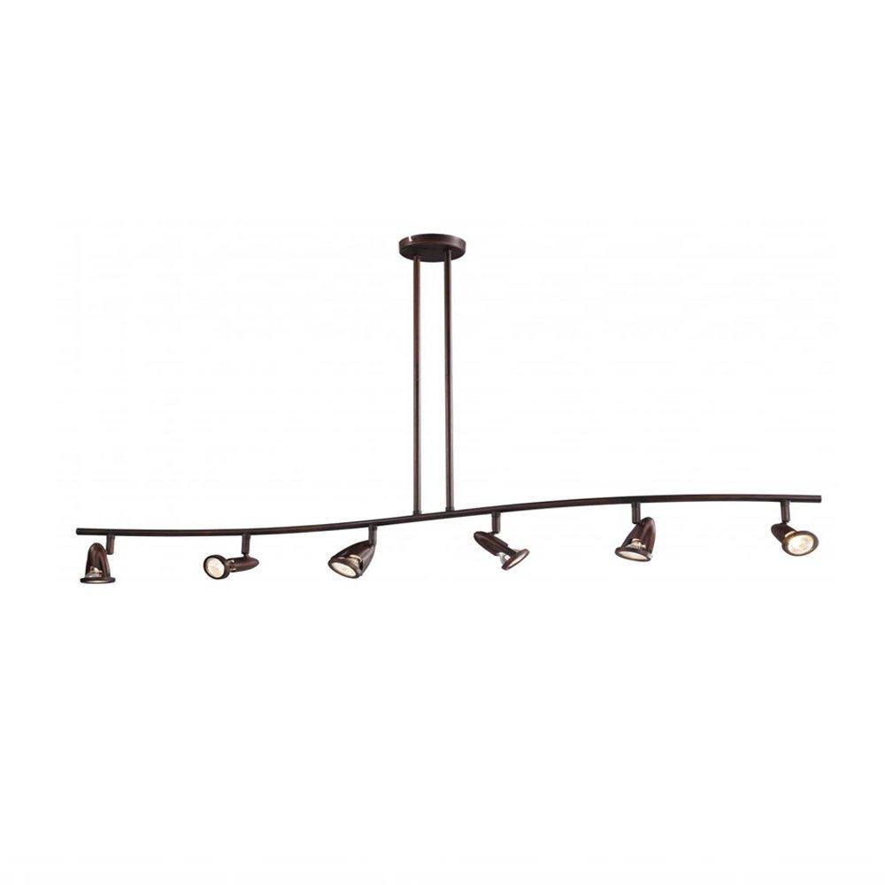 Trans Globe Lighting W-466-6 ROB Indoor Stingray 47.25'' Track Light, Rubbed Oil Bronze