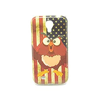 American Flag and Angry Bird Pattern IMD Craft TPU Case for Samsung Galaxy S4 I9500/I9505/I9508