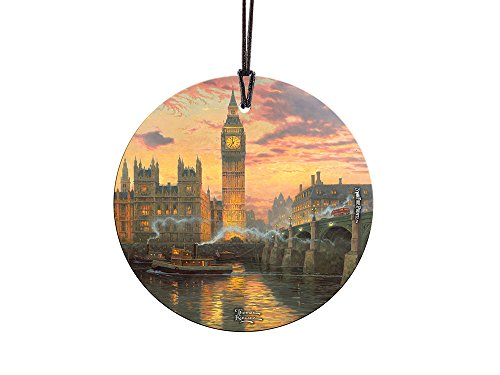 Trend Setters Thomas Kinkade London Starfire Prints Hanging Glass