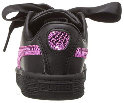 Pictures of PUMA Unisex Basket Heart Bling Kids Sneaker 36684801 7