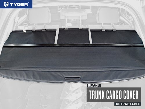 tyger black retractable suv rear trunk cargo cover shield fits import it all. Black Bedroom Furniture Sets. Home Design Ideas