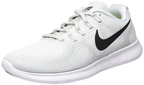 Nike Free RN 2017, Scarpe Running Donna Bianco (White/Black-pure Gris Platinum)