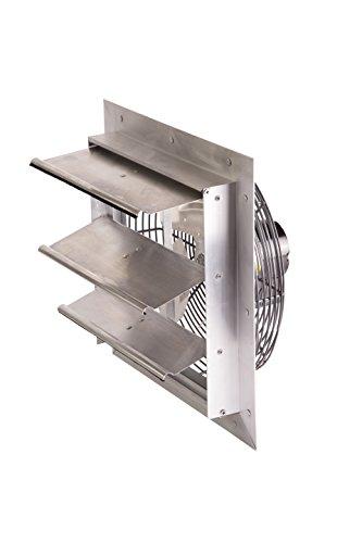 Exhaust Air Fans (Air-Flo SMF 12A Aluminum Shutter-Mount Exhaust Fan (Speed Controllable), 12