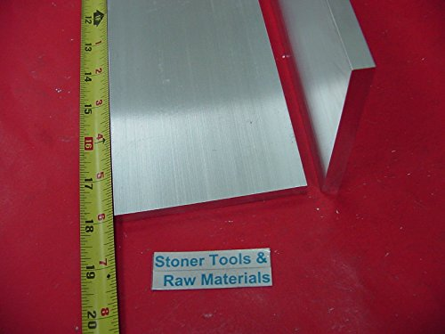 20 Pieces 3/8'' X 4'' ALUMINUM 6061 FLAT BAR 18'' Long T6511 .375'' Plate Mill Stock by Stoner Metals