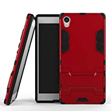 BCIT Sony Xperia Z5 Premium Case - Dual Layer Full Body Shock Resistant Armour Case Cover for Sony Xperia Z5 Premium - Red