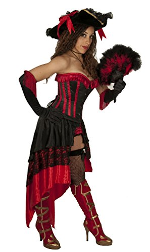 Air Dancer Costume Halloween (Dress Like A Pirate Brand Tie-On Satin and Lace Swallowtail (Black and Red))