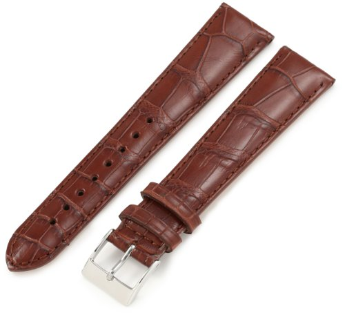 Artisan of Italy AITPD600-1420ML Men's Dress Padded Matte Alligator 20mm Cognac Long Watch Strap by Artisan of Italy
