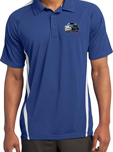 Ford F-150 Raptor Pocket Print Colorblock Polo, Royal White -