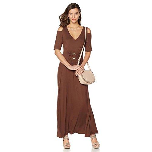 ee602272e Liz Lange Cold-Shoulder Ultimate Maxi Dress 524-421