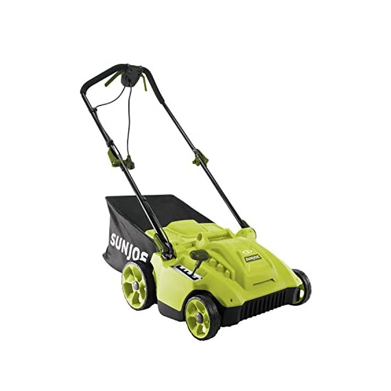 Sun Joe MJ506E 16 in 6.5 Amp Quad Wheel 24 Blade Electric Reel Lawn Mower w/ Grass Catcher 2 ✅ ELECTRIC REEL MOWER: Power 6.5-amp motor cuts a crisp 16 in. wide path ✅ ADJUSTABLE: 5-position manual adjustment allows for cutting heights: 1 in. - 2.6 in. (25 mm - 65 mm) ✅ STEEL RAZORS: Each of the 24 steel razors are designed to lift trim your grass to ensure the perfect, precise cut every time