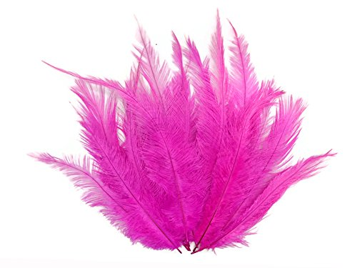 Moonlight Feather | 1/2 lb - Hot Pink Mini Spads Ostrich Wholesale Chick Body Feathers (bulk) Costume Halloween Wedding Craft Supplies ()