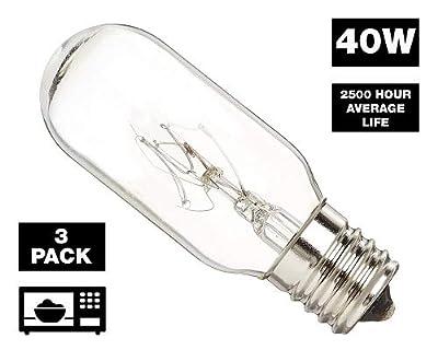 GoodBulb 40 Watt Microwave Bulb GE WB36x10003 - Microwave Light - Fits Most GE and Whirlpool Ovens - E17 Intermediate Base Bulb - 40 Watt 130 Volt Appliance Bulb