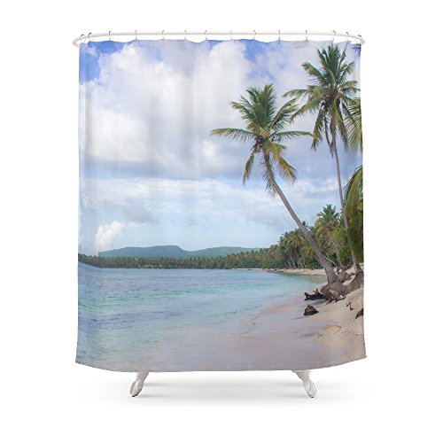 Society6 Dominican Republic Beach Shower Curtain 71 By 74