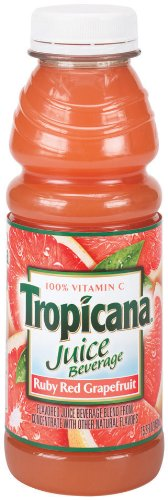 Tropicana Ruby Red Grapefruit, 15.2-Ounce Bottles (Pack of (Tropicana Ruby Red Grapefruit)