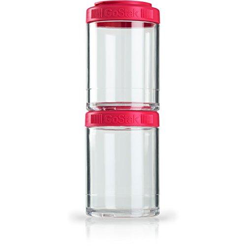 BlenderBottle 500922 GoStak Twist n Lock Storage Jars, 150cc 2-Pak, Pink