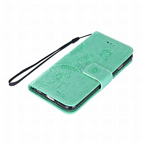 Yiizy handyhülle Apple IPhone 6 / IPhone 6s hülle, Sonnenblume Tasche Leder Schutzhülle PU Ledertasche Bumper Schutz Flip Cover Case Magnet Beutel Klappe Silikon Gummi huelle Schale Stehen Kartenhalte