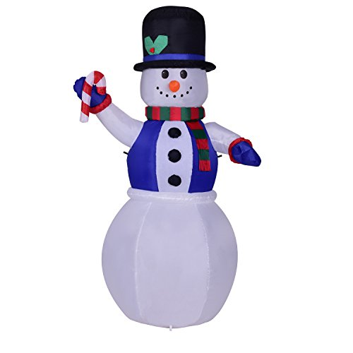 6 foot christmas inflatable airblown giant snowman xmas for Animated snowman decoration