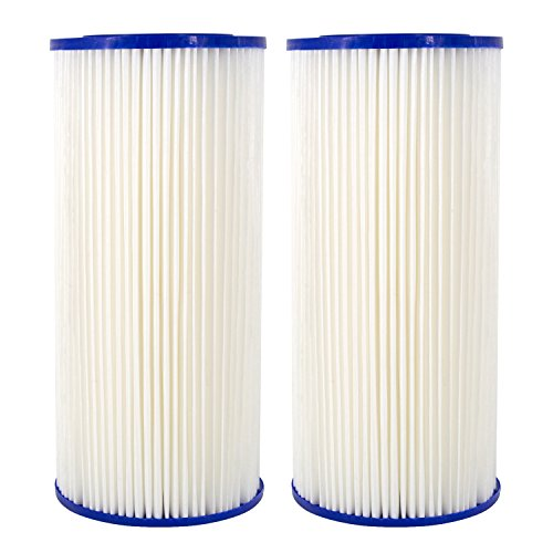 Pre-Filtration Sediment Replacement Filter for GE FXHSC, Culligan R50-BBSA, Pentek R50-BB Whole House Sediment Filter by AQUACREST (Pack of 2) by AQUA CREST