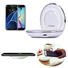 Bessky High Quality Qi Wireless Charger Charging Pad for Samsung Galaxy S7/S7 Edge (White)