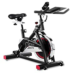 JOROTO X1S Professional Indoor Exercise Bike User capacity: 280 pounds35 Pounds Flywheel 35 lbs solid flywheel for stability with felt pads for adjustable resistance.?It is smooth and consistent when riding. Easy Resistance Adjustment There i...