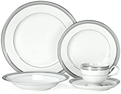 Mikasa Platinum Crown 40-Piece Dinnerware Set Service for 8  sc 1 st  Amazon.com & Amazon.com: Silver - Dinnerware Sets / Dining u0026 Entertaining: Home ...