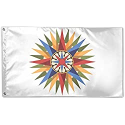 Compass Rose Garden Flag&Decorative Flag For Wedding Home Outdoor Garden&Anniversary Home Outdoor Garden Decor 3' X 5'