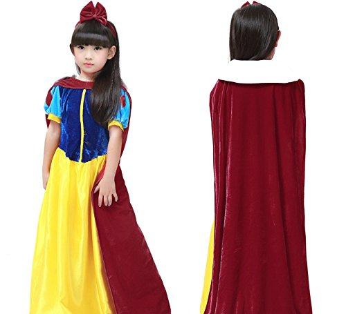 Dog Elf Costume Pattern (Halloween Devon Q Rebel Elegant Cute Child Cosplay Dress Christmas Ball Costume Snow White (X-Large))