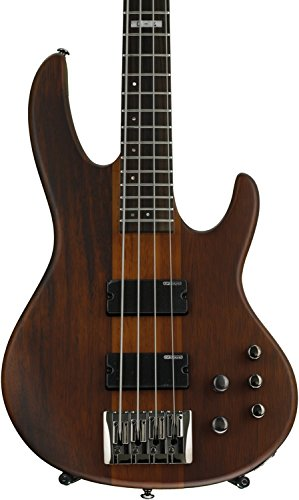 Bass Guitar Natural Satin (ESP LTD D Series D-4 Electric Bass Guitar - Natural Satin)