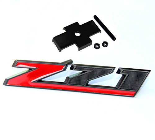 Yoaoo Matt Black Red Grille Z71 Emblem Badge for Gmc Chevy Silverado 1500 2500Hd Sierra Tahoe Suburban 3D ()