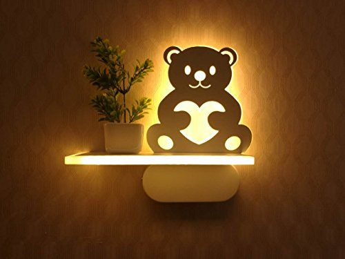 Guyue 3d bear lamp sign night wall lightchildrens bedroom home led guyue 3d bear lamp sign night wall lightchildrens bedroom home led wall lampds room dec modern acrylic 6w led wall lamp light sconce decorative light aloadofball Image collections