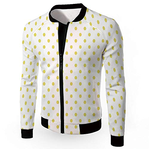 Epoxy Rain Dots - Windbreaker Jacket,Polka Dots,Men's Lightweight Zip-up Windproof Windbreaker Jac