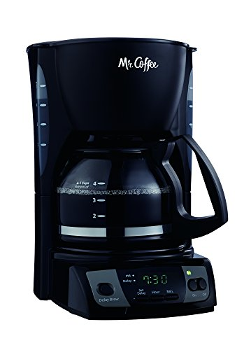 Mr. Coffee Simple Brew 5-Cup Programmable Coffee Maker, Black - CGX7-RB (5 Cup Programmable Coffee Maker)