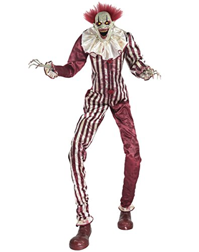 6.5 Ft Towering Creepy Clown Animatronic