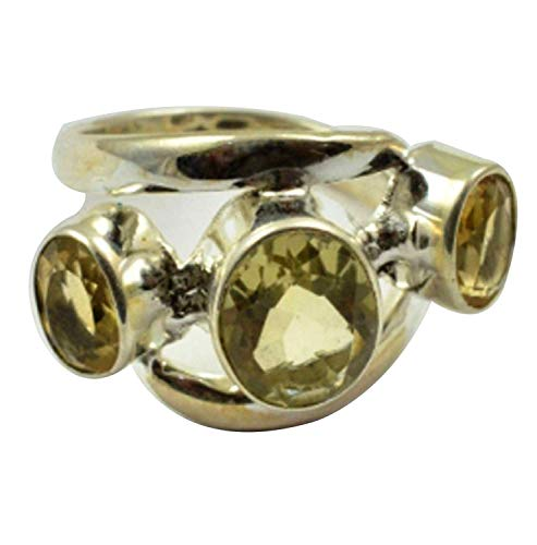 Lovegem Genuine Lemon Topaz & Rings | 925 Sterling Silver Rings