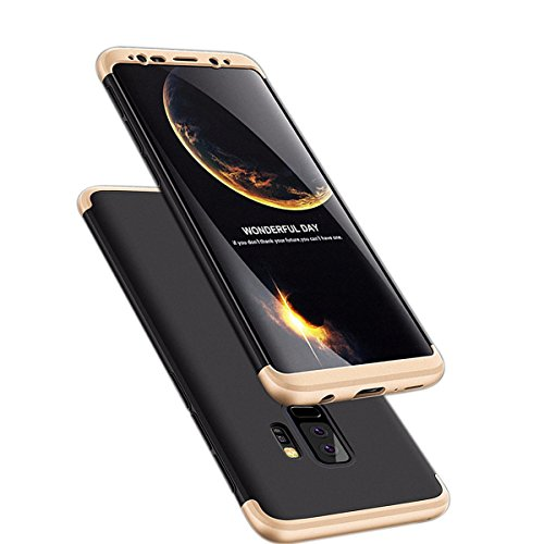 Hayder Galaxy S9 Plus Case 3 In 1 Ultra Thin Anti-Scratch 360 Degree Full Protection Hard Cover Shockproof Case for Samsung Galaxy S9 Plus (GOLD+BLACK)