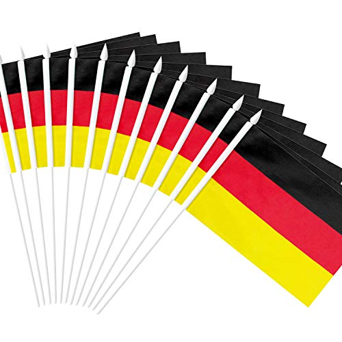 German Decorations - Anley Germany Stick Flag, German 5x8