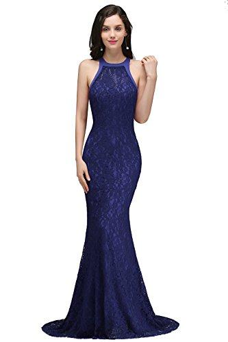 Babyonlinedress Elegant Lace Long Formal Evening Mother Of The Bride Dresses(Blue,Size 10)