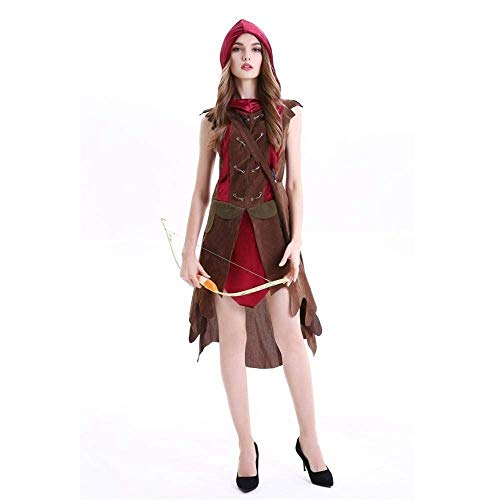 Fashion-Cos1 Women Fairy Hunter Cosplays Female Halloween Forest Elves Costumes Carnival Masquerade Nightclub Role Play Party Dress (Size : XL)]()