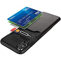 Maxace Hybrid Soft Silicone + PC 2 in1 Full Protective Anti-Knock Shockproof Case with Credit Card Slot