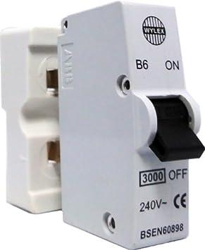 Wylex B6 - 6 Amp Plug-In Type B MCB with Plastic Base: Amazon.co.uk: DIY &  Tools   Wylex Fuse Box Plug In Mcb      Amazon.co.uk
