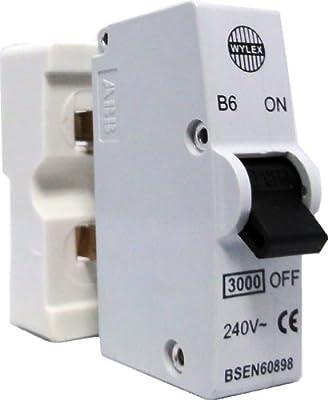 Wylex Plug in Breaker B Type 16A Blue