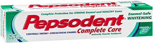 (Pepsodent Complete Care Anti-Cavity Fluoride Toothpaste, Whitening with Baking Soda 6 oz (Pack of 12))
