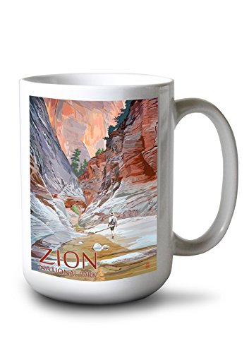 Zion National Park Usa Framed (Zion National Park, Utah - Slot Canyon (15oz White Ceramic Mug))